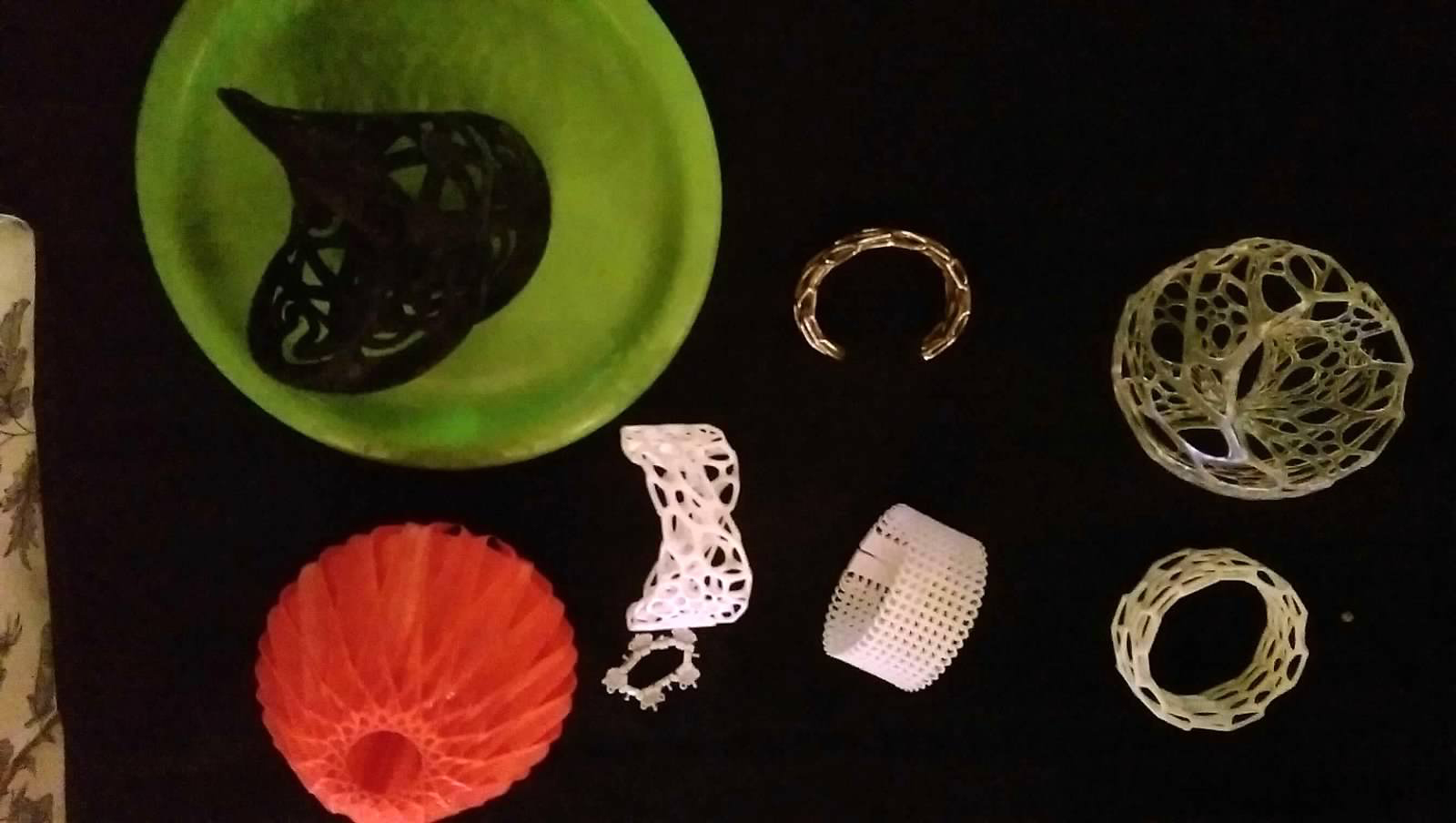 3D printed jewelry
