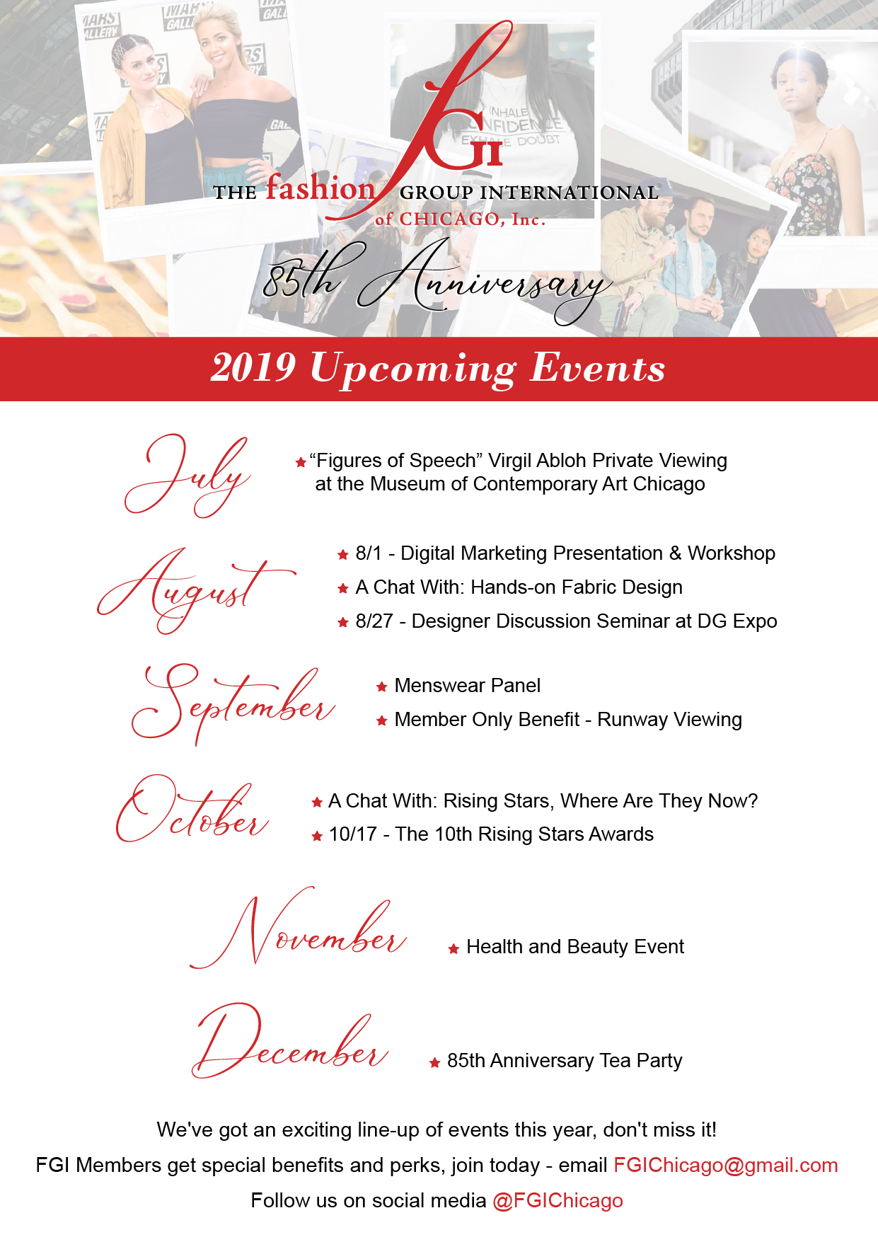 FGI Chicago Upcoming 2019 Events