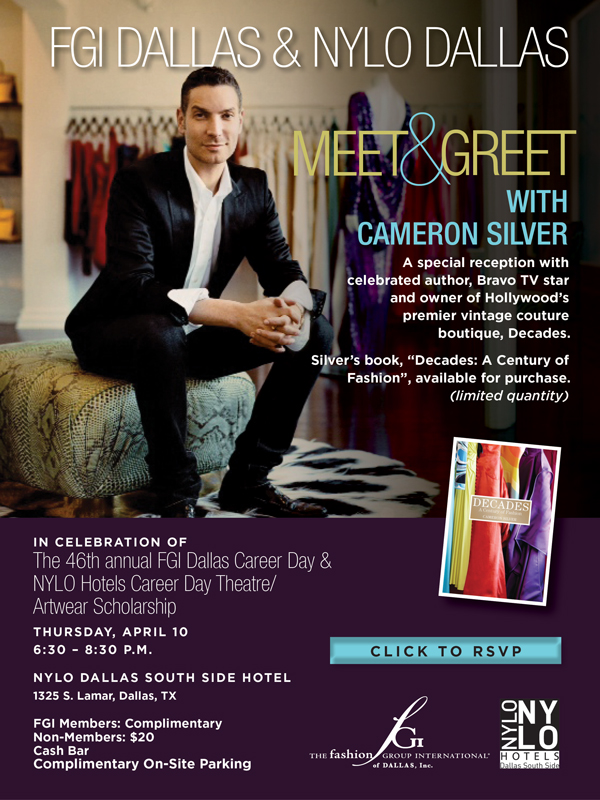 Cameron Silver Book Signing