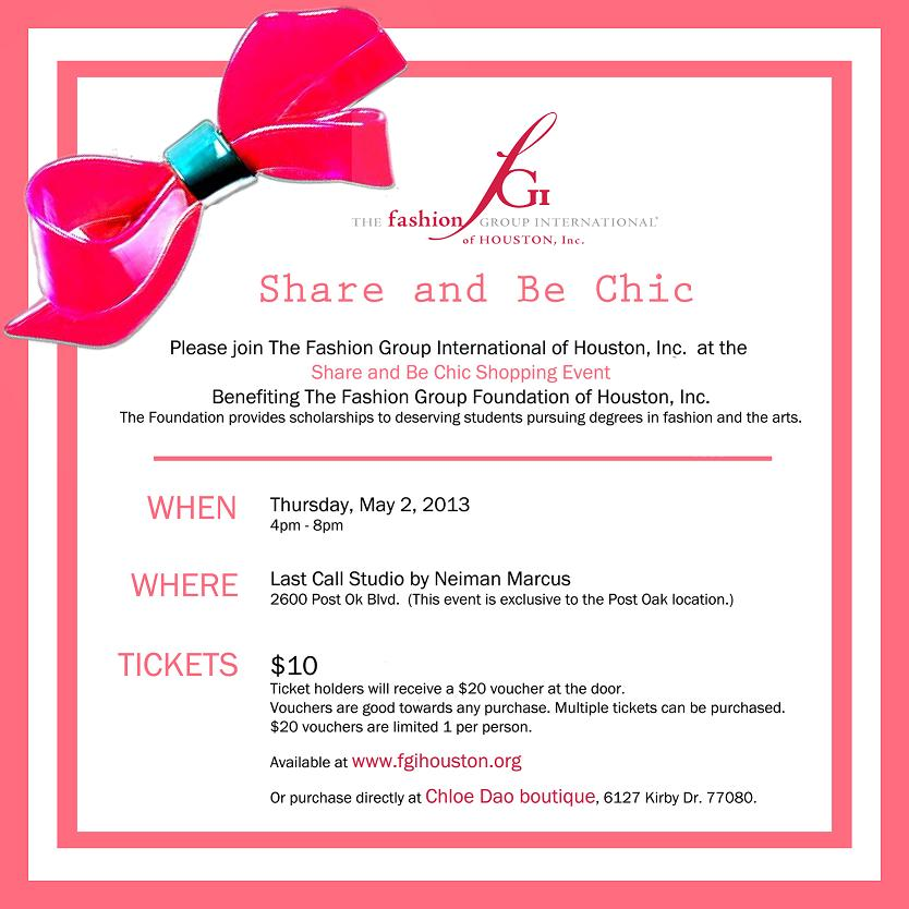 Share and Be Chic Shopping Event