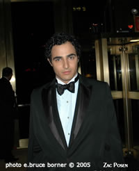 Zac Posen photo by e.bruce borner (c) 2005