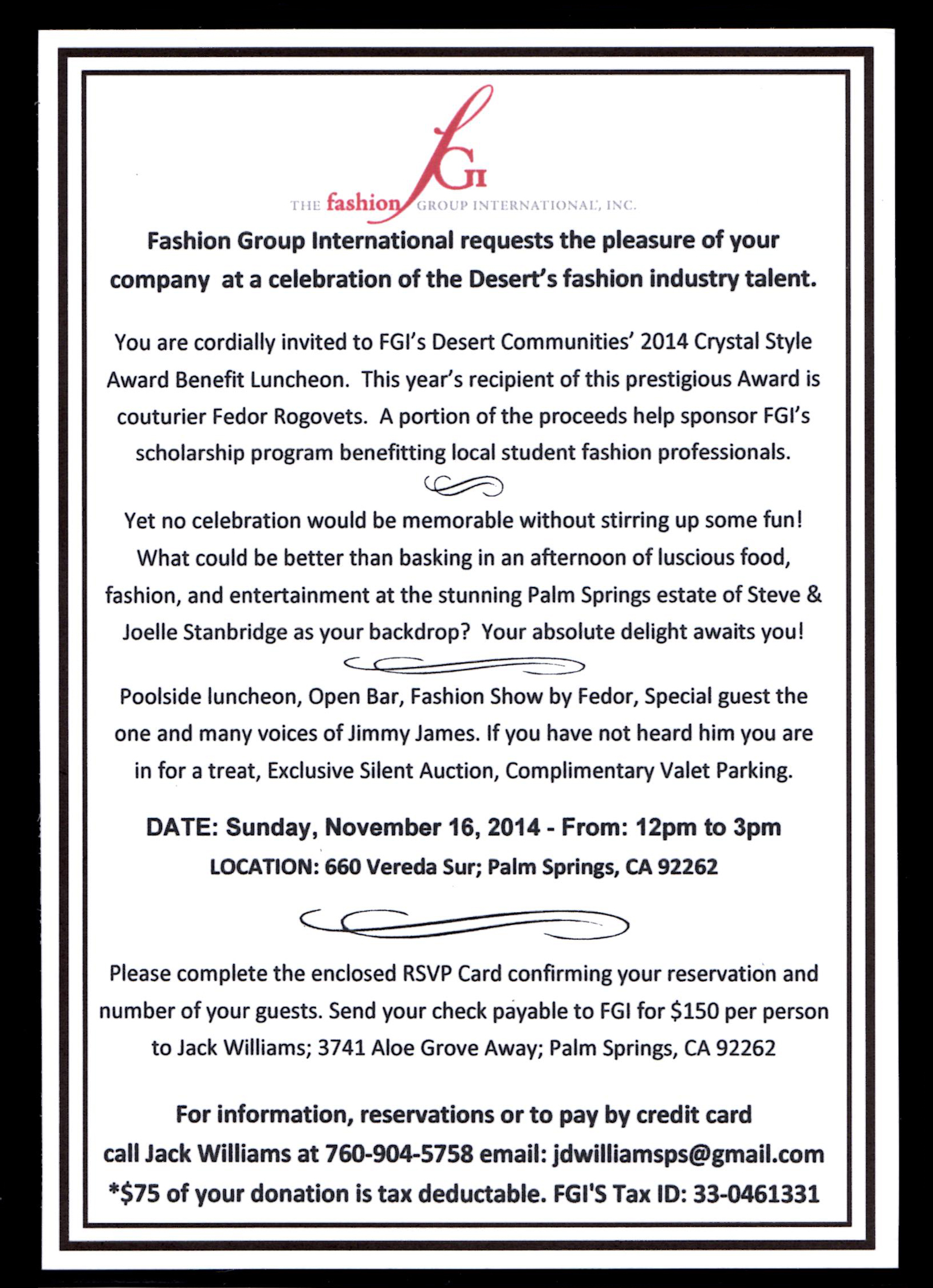 Crystal style event invite
